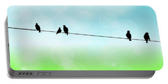 Birds Hanging Around Portable Battery Charger