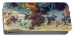 Birds In Flight At Sunset Portable Battery Charger