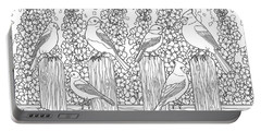 Birds In Flower Garden Coloring Page Portable Battery Charger