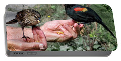 Birds In The Hands Portable Battery Charger