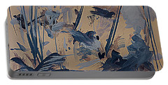 Birds In The Tall Reeds Portable Battery Charger by Nancy Kane Chapman