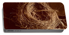 Bird's Nest Sepia Portable Battery Charger