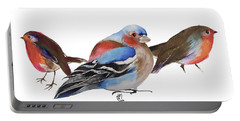 Birds Of A Feather Portable Battery Charger by Nancy Moniz