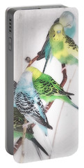 Portable Battery Charger featuring the photograph Birds Of A Feather by Robin Regan