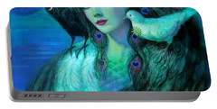Birds Of Duality Fantasy Art Portable Battery Charger