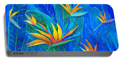 Birds Of Paradise In Florida Portable Battery Charger