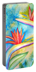 Birds Of Paradise Portable Battery Charger by Carlin Blahnik