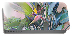 Portable Battery Charger featuring the mixed media Birds Of Paradise  by Lucia Sirna
