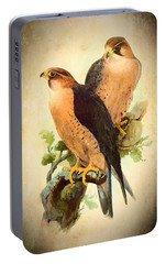 Portable Battery Charger featuring the mixed media Birds Of Prey 1 by Charmaine Zoe