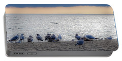 Portable Battery Charger featuring the photograph Birds On A Beach by Kendall McKernon