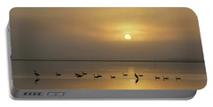 Birds On A Hazy Day Portable Battery Charger