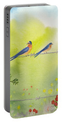 Birds On A Wire Barn Swallows Portable Battery Charger