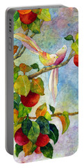 Birds On Apple Tree Portable Battery Charger