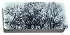 Birds On The Tree Monochrome Portable Battery Charger