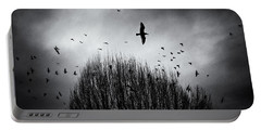 Birds Over Bush Portable Battery Charger by Peter v Quenter