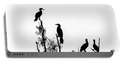 Birds Perched On Branches Portable Battery Charger