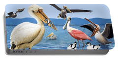 Birds With Strange Beaks Portable Battery Charger by R B Davis