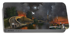 Portable Battery Charger featuring the painting Birmingham And Liverpool Junction by Ken Wood