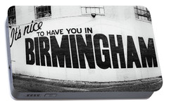 Portable Battery Charger featuring the photograph Birmingham Sign by Parker Cunningham