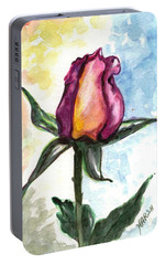 Portable Battery Charger featuring the painting Birth Of A Life by Harsh Malik
