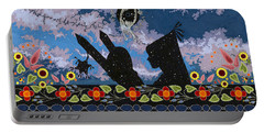 Portable Battery Charger featuring the painting Birth Of The Universe by Chholing Taha