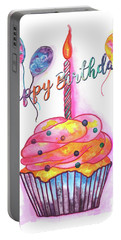 Birthday Cupcake Portable Battery Charger