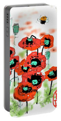 Birthday Field Of Flowers  Portable Battery Charger