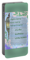 Portable Battery Charger featuring the painting Birthday Of The King by Sandy McIntire