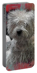 Portable Battery Charger featuring the photograph Bishon Frise by EricaMaxine  Price
