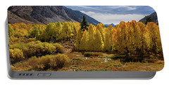 Portable Battery Charger featuring the photograph Bishop Creek Aspen by John Hight