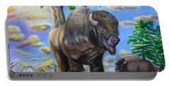Bison Acrylic Painting Portable Battery Charger