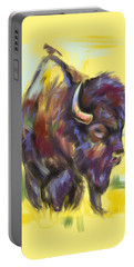 Bison And Bird Portable Battery Charger by Go Van Kampen