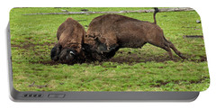 Bison Fighting Portable Battery Charger