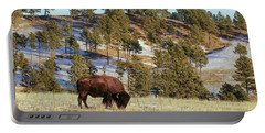 Bison In Custer State Park Portable Battery Charger