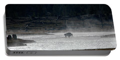 Bison In The River Portable Battery Charger