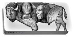Bison Indian Montage 2 Portable Battery Charger by Greg Joens