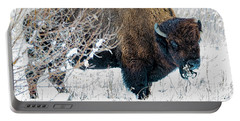 Portable Battery Charger featuring the photograph Bison by Norman Hall