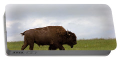 Bison On The American Prairie Portable Battery Charger