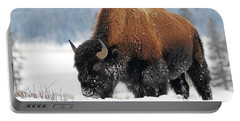Bison Roaming In The Lamar Valley Portable Battery Charger