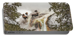 Bison Taking A Steam Bath Portable Battery Charger