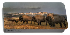 Bisons Of The Front Range Portable Battery Charger