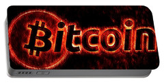 Bitcoin Red Hot Portable Battery Charger