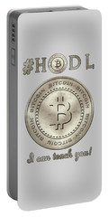 Bitcoin Symbol Hodl Quote Typography Portable Battery Charger