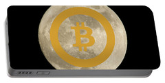 Bitcoin To The Moon Portable Battery Charger