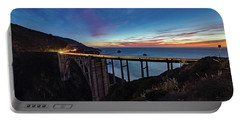 Bixby Bridge Sunset Portable Battery Charger