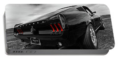 Black 1967 Mustang Portable Battery Charger