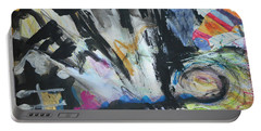 Black Abstract Portable Battery Charger