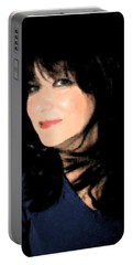 Portable Battery Charger featuring the photograph Black And Blue by Ellen Barron O'Reilly