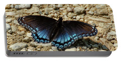 Black And Blue Monarch Butterfly Portable Battery Charger