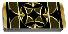 Black And Gold 13 - Chuck Staley Portable Battery Charger by Chuck Staley